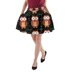 Halloween brown owls  A-Line Pocket Skirt