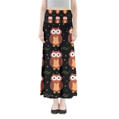 Halloween brown owls  Maxi Skirts