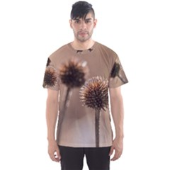 Withered Globe Thistle In Autumn Macro Men s Sport Mesh Tee by wsfcow