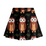 Halloween brown owls  Mini Flare Skirt