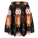 Halloween brown owls  High Waist Skirt View2