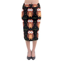 Halloween brown owls  Midi Pencil Skirt
