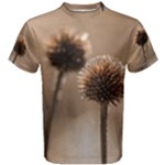 Withered Globe Thistle In Autumn Macro Men s Cotton Tee