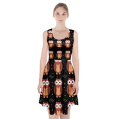 Halloween brown owls  Racerback Midi Dress