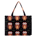 Halloween brown owls  Medium Tote Bag