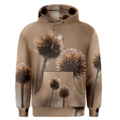Withered Globe Thistle In Autumn Macro Men s Pullover Hoodie