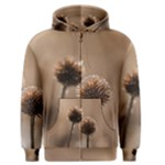 Withered Globe Thistle In Autumn Macro Men s Zipper Hoodie