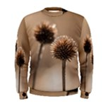 Withered Globe Thistle In Autumn Macro Men s Sweatshirt