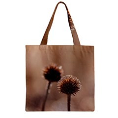 Withered Globe Thistle In Autumn Macro Zipper Grocery Tote Bag by wsfcow