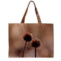Withered Globe Thistle In Autumn Macro Zipper Mini Tote Bag