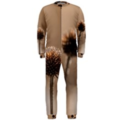 Withered Globe Thistle In Autumn Macro Onepiece Jumpsuit (men)