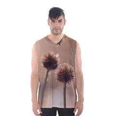 Withered Globe Thistle In Autumn Macro Men s Basketball Tank Top