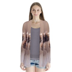Withered Globe Thistle In Autumn Macro Drape Collar Cardigan by wsfcow