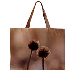 Withered Globe Thistle In Autumn Macro Medium Tote Bag