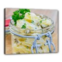 Potato salad in a jar on wooden Canvas 20  x 16  View1