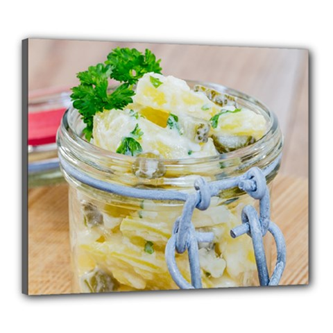 Potato Salad In A Jar On Wooden Canvas 24  X 20