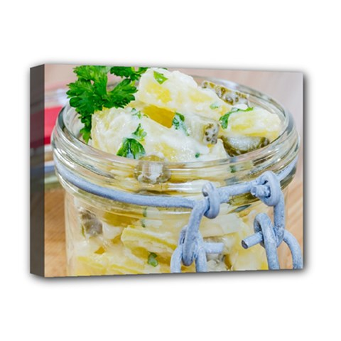 Potato Salad In A Jar On Wooden Deluxe Canvas 16  X 12