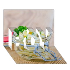 Potato Salad In A Jar On Wooden Boy 3d Greeting Card (7x5)