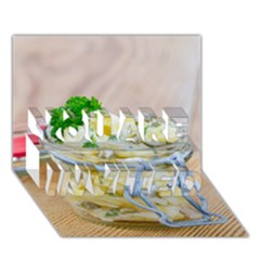 Potato Salad In A Jar On Wooden You Are Invited 3d Greeting Card (7x5) by wsfcow