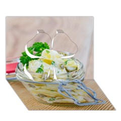 Potato Salad In A Jar On Wooden Clover 3d Greeting Card (7x5) by wsfcow