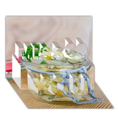 Potato Salad In A Jar On Wooden Miss You 3d Greeting Card (7x5) by wsfcow