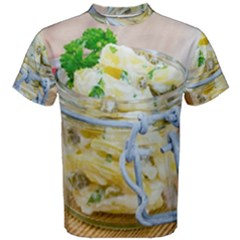 Potato salad in a jar on wooden Men s Cotton Tee