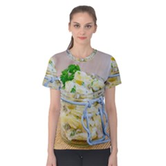 Potato Salad In A Jar On Wooden Women s Cotton Tee