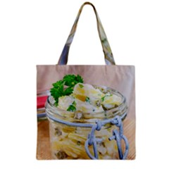 Potato salad in a jar on wooden Grocery Tote Bag