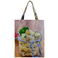 Potato salad in a jar on wooden Classic Tote Bag