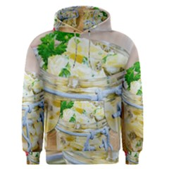 Potato salad in a jar on wooden Men s Pullover Hoodie