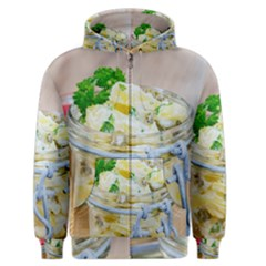 Potato salad in a jar on wooden Men s Zipper Hoodie