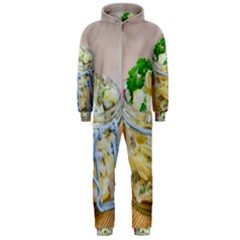 Potato Salad In A Jar On Wooden Hooded Jumpsuit (men)  by wsfcow