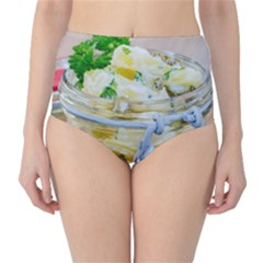 Potato Salad In A Jar On Wooden High Waist Bikini Bottoms