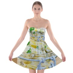 Potato Salad In A Jar On Wooden Strapless Bra Top Dress by wsfcow