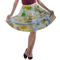 Potato Salad In A Jar On Wooden A Line Skater Skirt