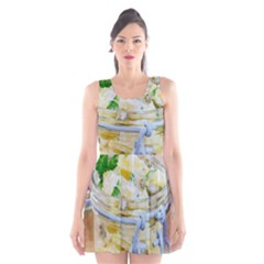 Potato salad in a jar on wooden Scoop Neck Skater Dress