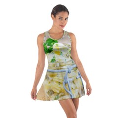 Potato salad in a jar on wooden Cotton Racerback Dress