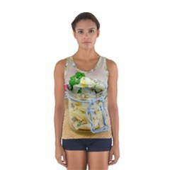 Potato Salad In A Jar On Wooden Women s Sport Tank Top