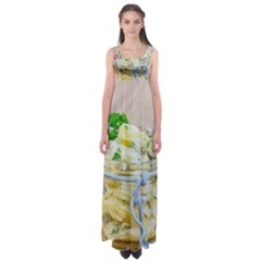 Potato Salad In A Jar On Wooden Empire Waist Maxi Dress by wsfcow