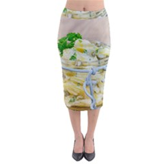 Potato Salad In A Jar On Wooden Midi Pencil Skirt
