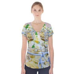 Potato Salad In A Jar On Wooden Short Sleeve Front Detail Top by wsfcow