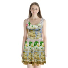 Potato salad in a jar on wooden Split Back Mini Dress