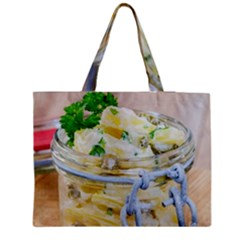 Potato Salad In A Jar On Wooden Medium Tote Bag by wsfcow
