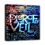 Pierce The Veil Quote Galaxy Nebula Mini Canvas 8  x 8