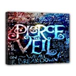 Pierce The Veil Quote Galaxy Nebula Canvas 14  x 11