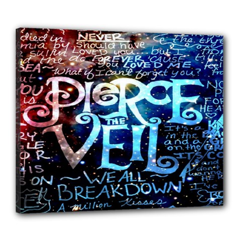 Pierce The Veil Quote Galaxy Nebula Canvas 24  X 20  by Onesevenart