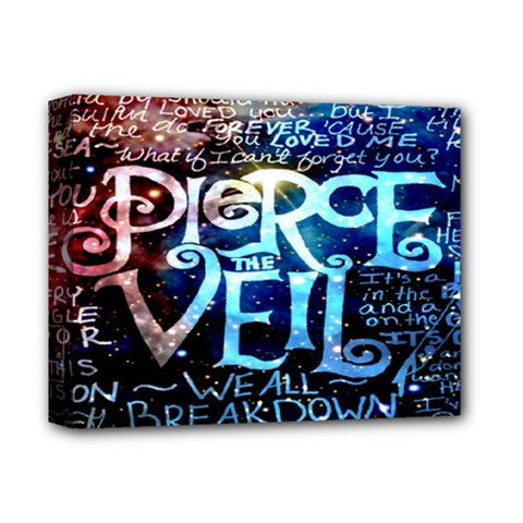 Pierce The Veil Quote Galaxy Nebula Deluxe Canvas 14  X 11  by Onesevenart