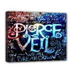 Pierce The Veil Quote Galaxy Nebula Deluxe Canvas 20  x 16