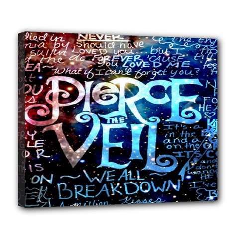 Pierce The Veil Quote Galaxy Nebula Deluxe Canvas 24  X 20   by Onesevenart