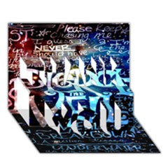 Pierce The Veil Quote Galaxy Nebula Thank You 3d Greeting Card (7x5) by Onesevenart